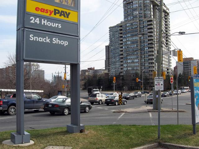 Toronto Shell Gas Station Islington and Dundas 2009