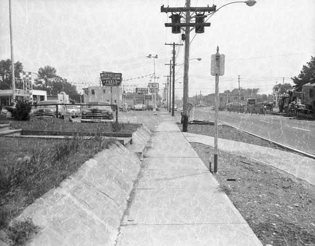 Islington and Bloor Street West Legion Looking East 1958