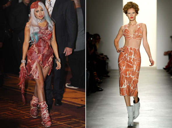 lady gaga meat dress real or fake. After the Lady Gaga meat dress