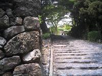 犬山城への石段