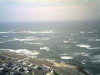 サーファーたちで賑わう海岸