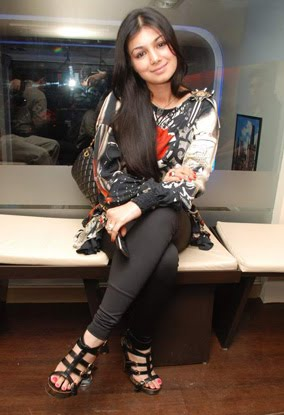 Ayesha Takia in Tight Black Leggings with Multi Color Top