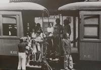 Baixant del tren a Gironella