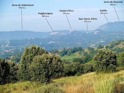 Vistes de la Serra de Sobremunt, Orís...