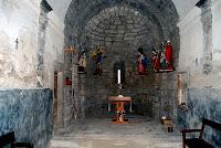 Interior de Sant Miquel de Fonogedell. Fotografia Carlos Albacete