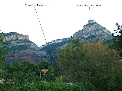 Els Cingles de Bertí des de Can Figueres