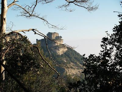 El Castell de Centelles des del Grau de Sant Martí