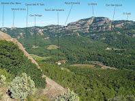 Vista de Sant Llorenç anant cap a la Roca del Corb