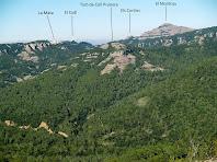 Vistes del Montcau anant cap a la Roca del Corb