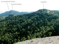 Vistes cap al sud des de la Roca del Corb