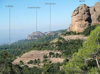 El Castell de Bocs des del camí de la Portella