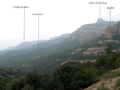 Panoràmica des del camí de la Portella
