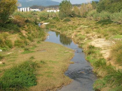 El riu Congost amb un esplugabous al fons