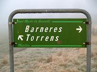 Senyalització dels masos Torrens i Barneres