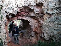 Interior del Forn de Calç de la Vall d'Arús