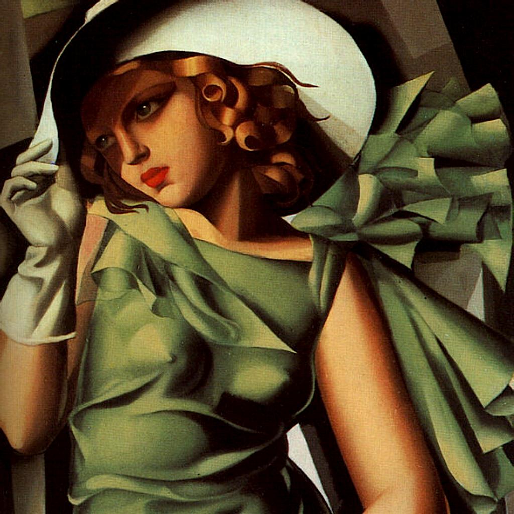 Mujer con vestido verde tamara