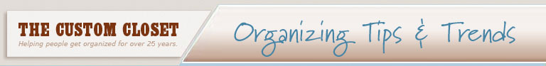 Organizing Tip of the Week