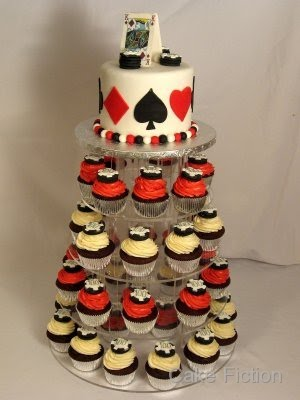 Cake Fiction Blackjack Cake And Cupcakes With Poker Chips