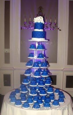 Cake Fiction: Seton Hall Blue Wedding Mini-Cakes