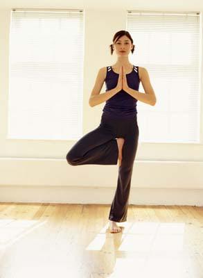 Another Great Yoga Pose - Tree Pose - VrksasanaYoga Tree Pose