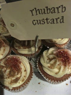 Rhubarb and custard cupcakes, Love Bakery