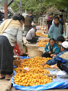 Market day in Laos