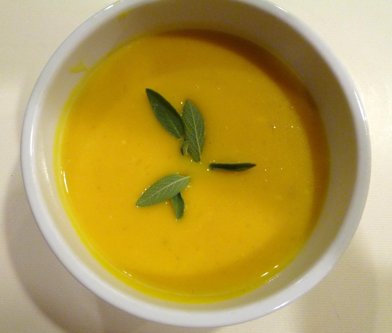Pumpkin Soup with Gruyere Cheese