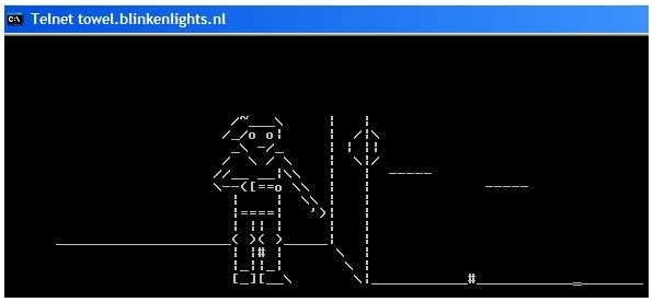 watch star wars movie on ms dos prompt