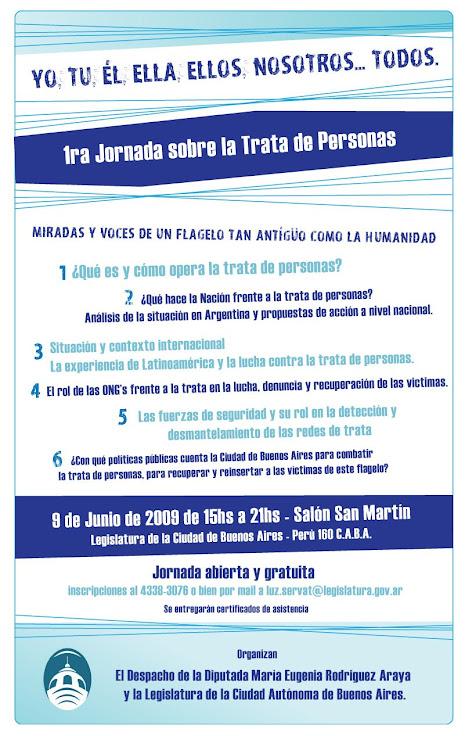 09 1º Seminario de Trata de Personas. Legislatura Cidad. A. de Bs. As. 9 de Junio 09