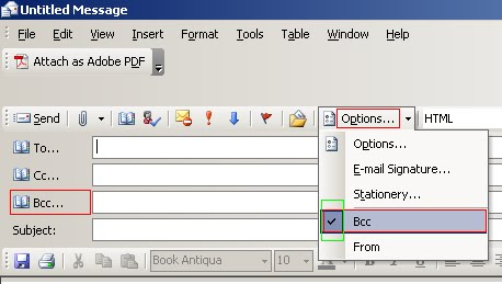 how to add bcc in outlook permanently