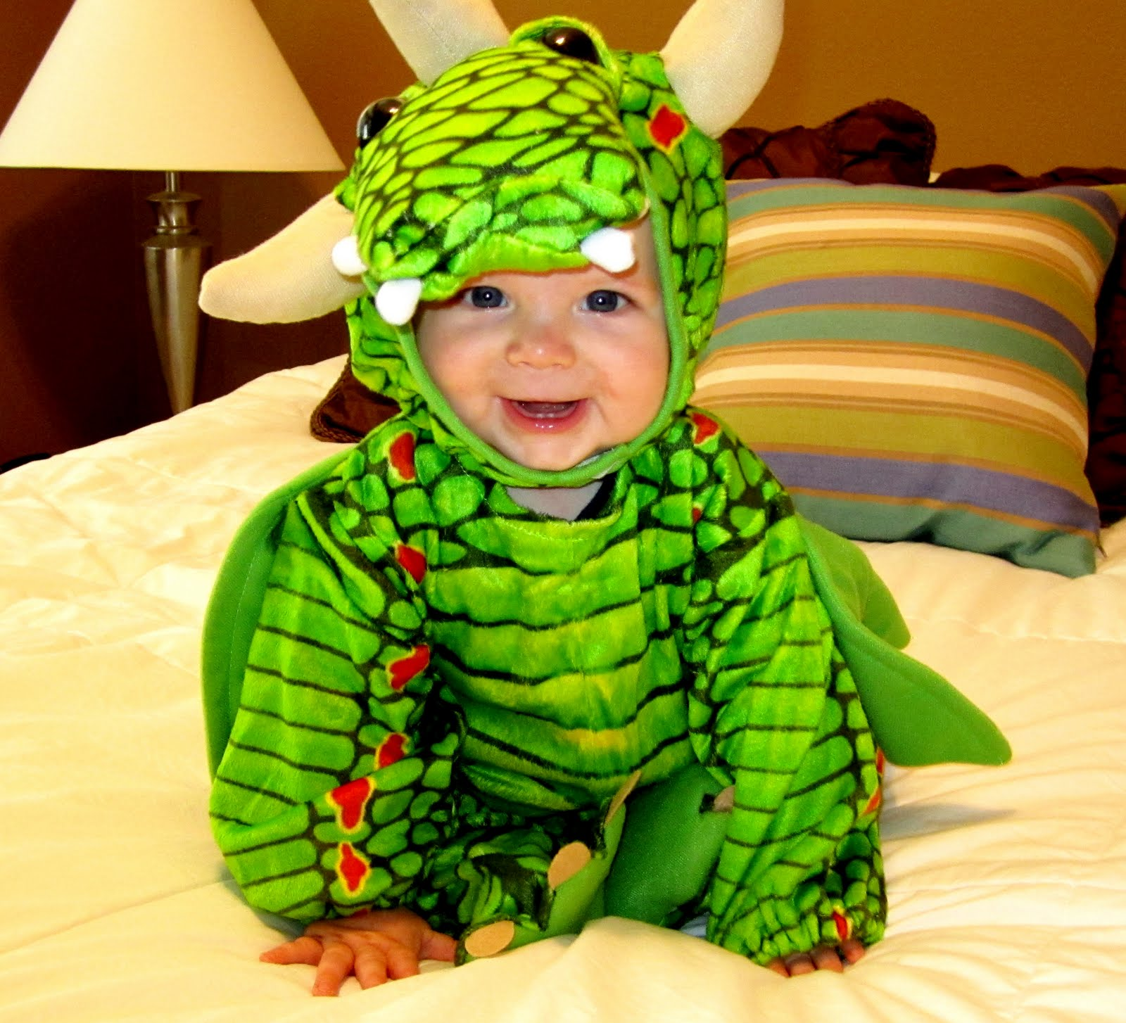 I was so excited about Carteru0027s dragon costume I thought he looked so adorable. And luckily he didnu0027t mind being in his costume. We chose a dragon because ...  sc 1 st  Natalie and Logan & Walter Family: Happy Halloween