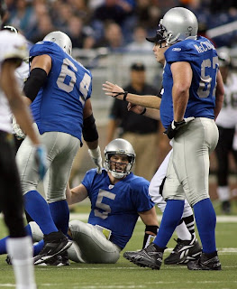 Detroit Lions offensive line gives up another sack