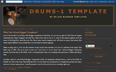 Two Column Layout from Deluxe Blogger Template