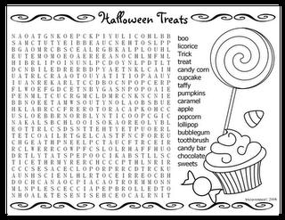 Halloween Printable: Printable Halloween Word Search
