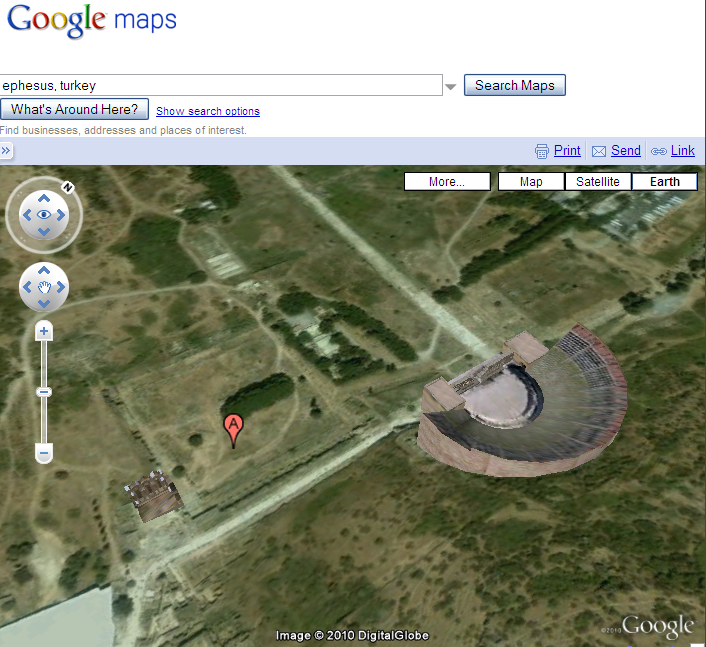 Biblical Studies And Technological Tools Google Maps Google Earth - Google map satellite zoom