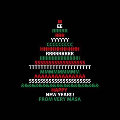 Animasi Merry Christmas And Happy New Year