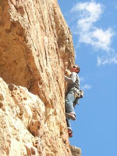 Mike Bromberg on a Jacks Canyon 5.10