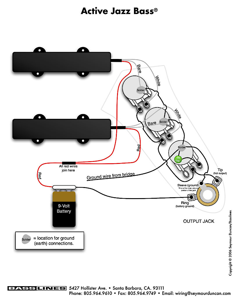 active pickup wiring diagram 1