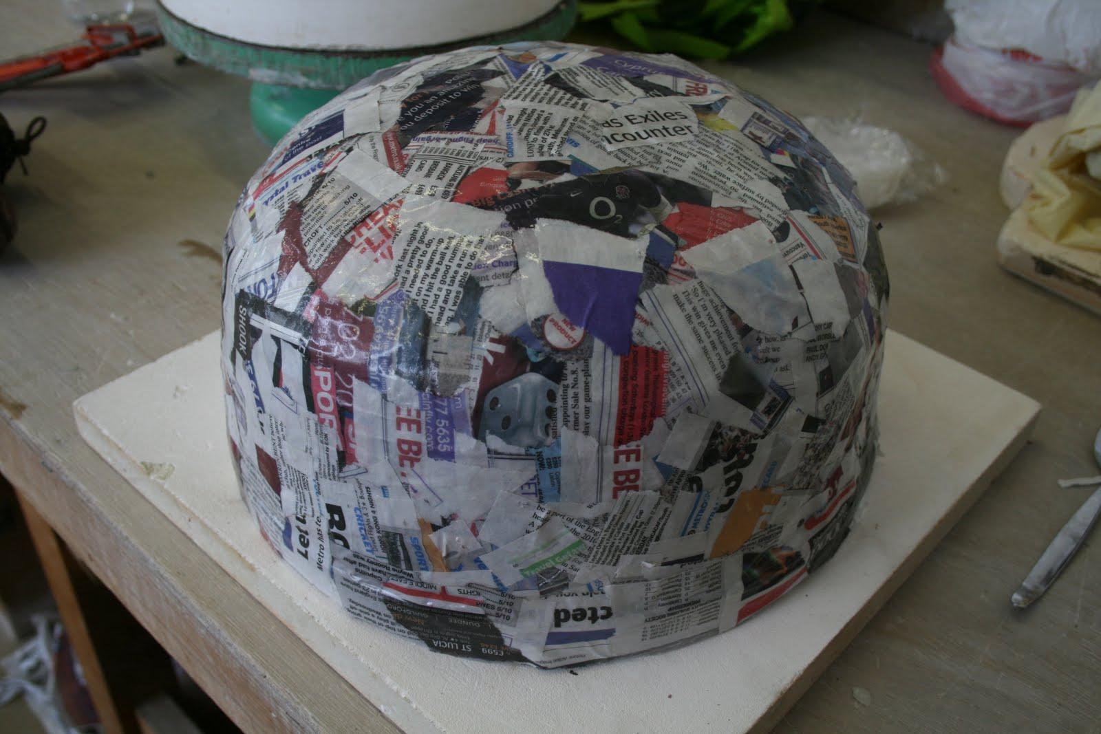 Alice walton ceramics paper mache trial for Paper mache structure