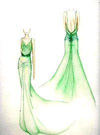 Atonement Green Dress Designer
