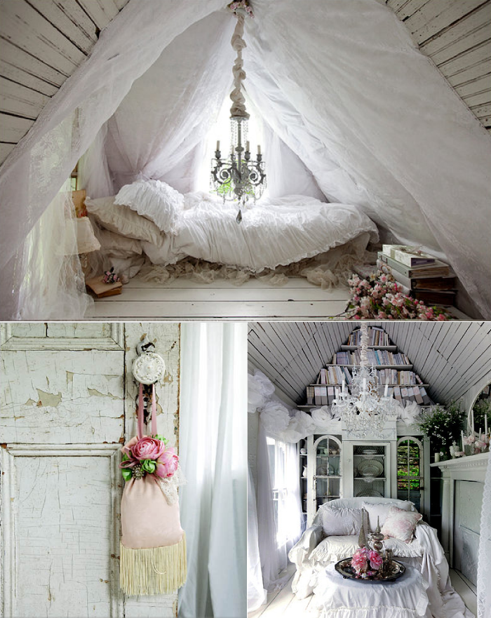 shabby chic interior on Pinterest  Romantic home decor, Shabby chic ...