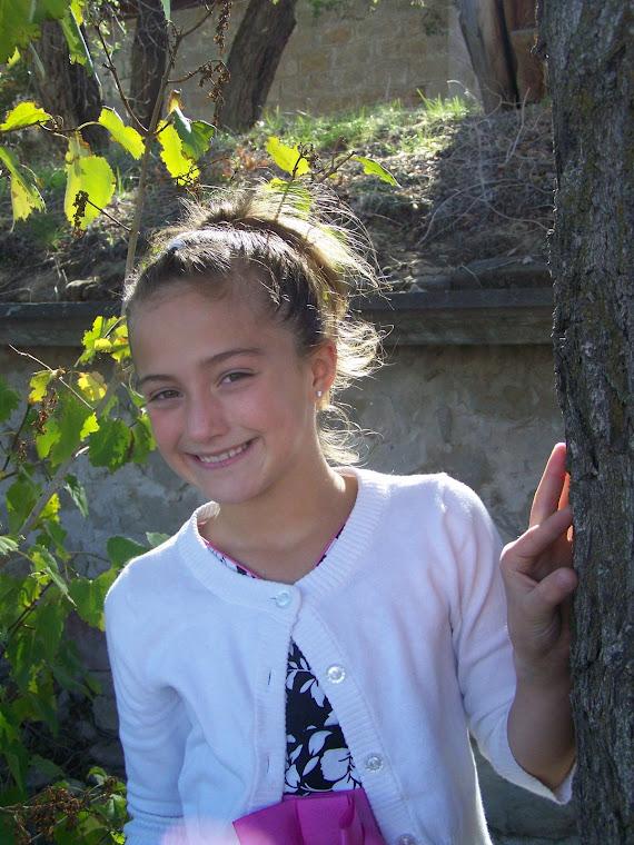 Dallie, age 9, posing @ our pretend Photo Shoot