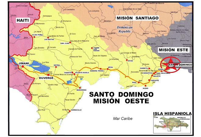 Map Of Santo Domingo West Mission
