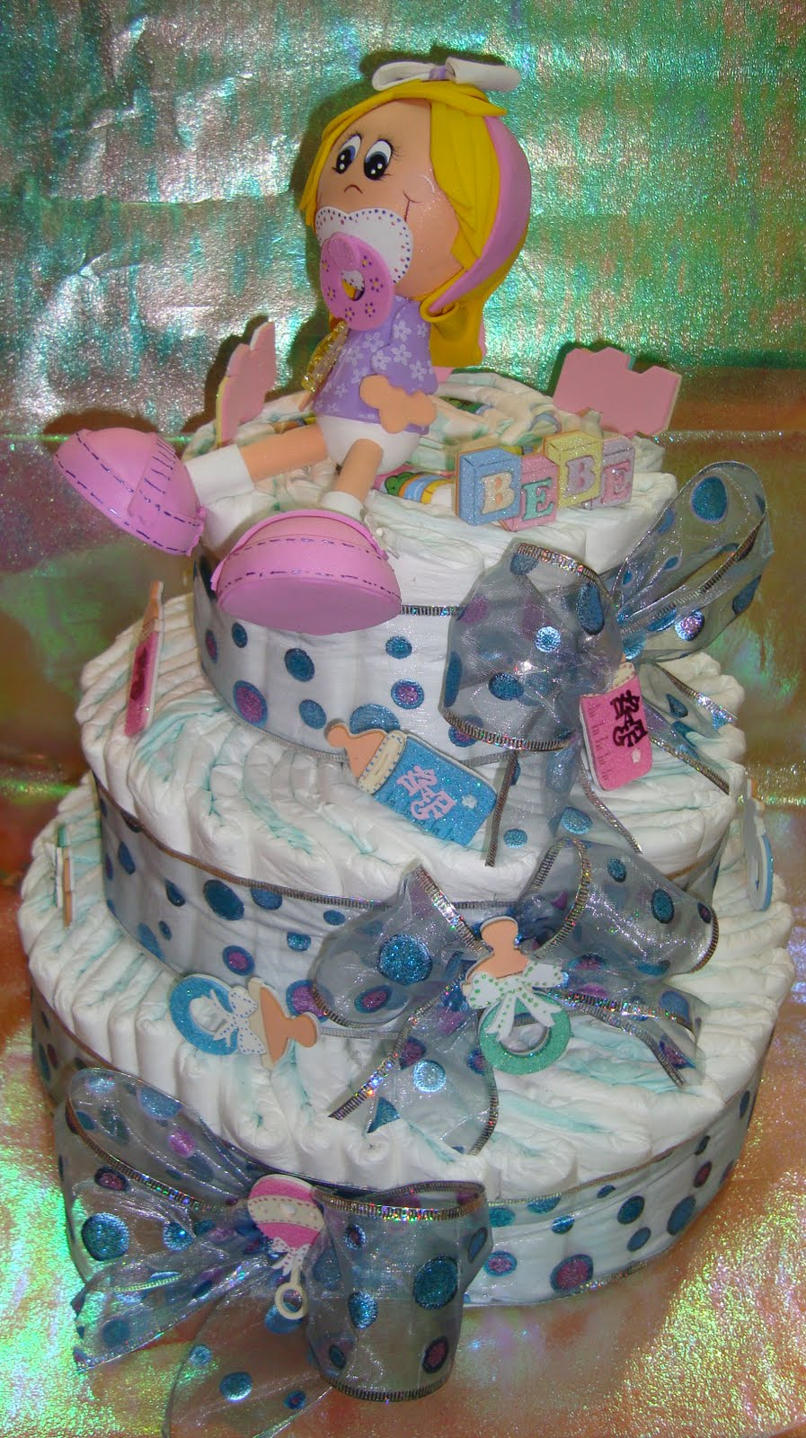 pin baby shower karly creativa pastel de panales para on pinterest