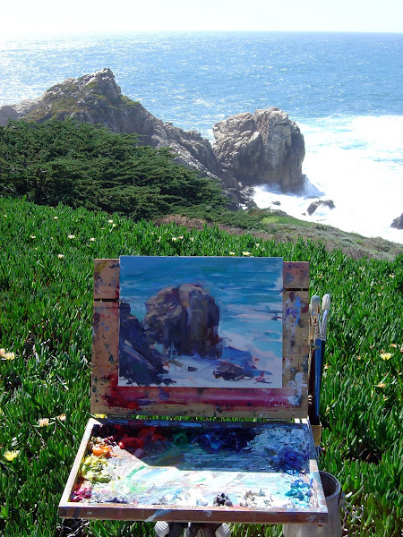 Painting Rocky Ridge~ Carmel, California