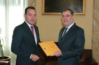 Artemi Rallo y Mariano Fernández Bermejo entonces Ministro de Justicia