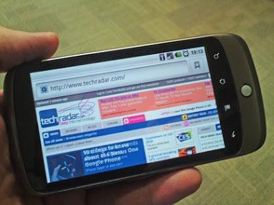 Nexus One Internet Browser