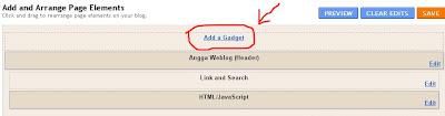 adsense Link Unit Below Tab Menu
