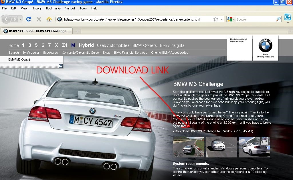 bmw m3 challenge download