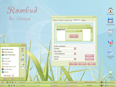 Windows XP Themes Free Download - Rosebud